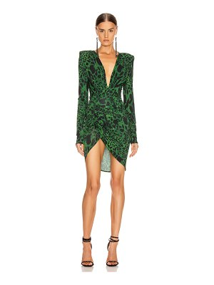 Alexandre Vauthier jersey lynx ruched dress