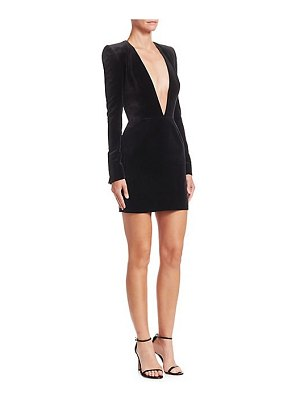 Alexandre Vauthier jersey plunging long-sleeve dress