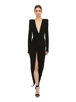 Alexandre Vauthier Knot stretch jersey dress