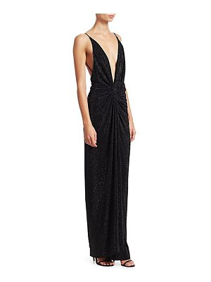 Alexandre Vauthier knotted sequin deep-v column gown
