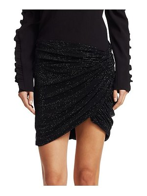 Alexandre Vauthier microcrystal jersey wrap skirt
