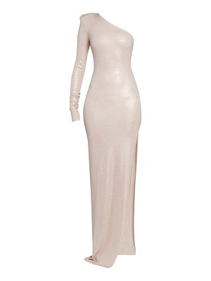 Alexandre Vauthier microcrystal one-shoulder gown