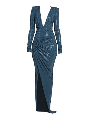 Alexandre Vauthier microcrystal ruched gown