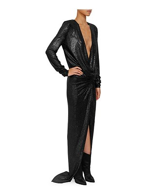 Alexandre Vauthier microcrystal v-neck gown