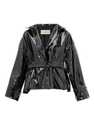 Alexandre Vauthier patent leather belted jacket