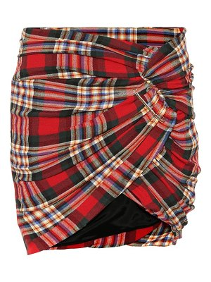 Alexandre Vauthier Plaid wool-blend skirt