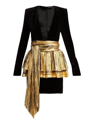 Alexandre Vauthier Pleated-overlay mini dress