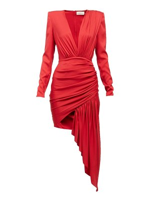 Alexandre Vauthier plunge-neck draped mini dress