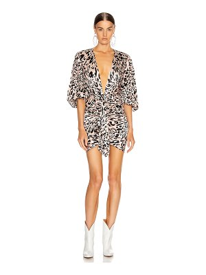 Alexandre Vauthier plunging leo mini dress
