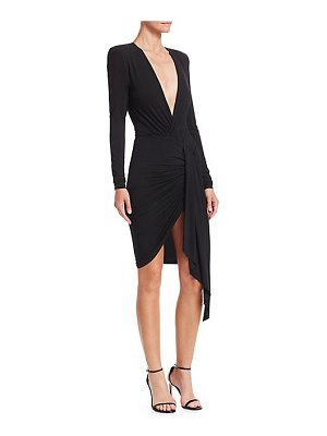 Alexandre Vauthier plunging wrap dress