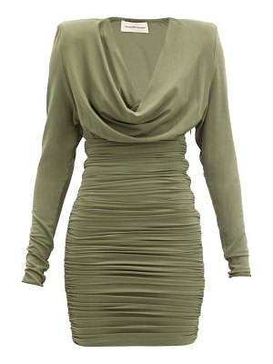 Alexandre Vauthier ruched jersey mini dress