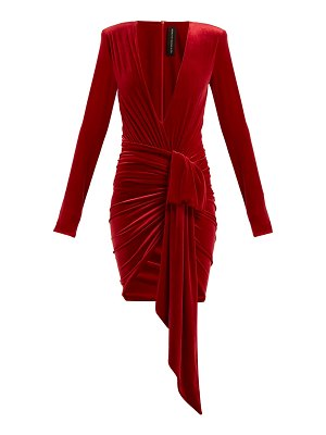Alexandre Vauthier Ruched velvet mini dress