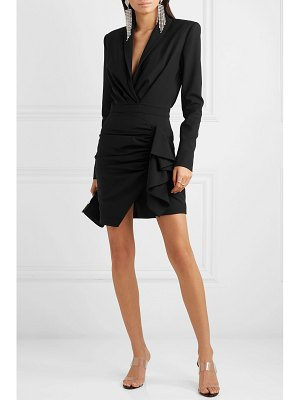 Alexandre Vauthier ruched wool-blend twill mini dress