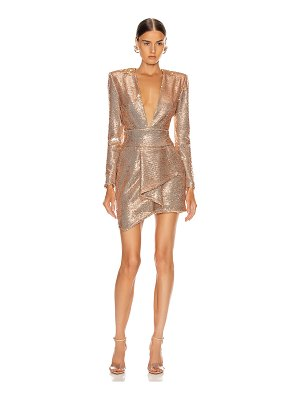 Alexandre Vauthier sequin plunging mini dress