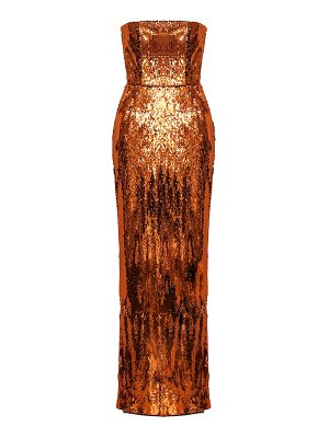 Alexandre Vauthier Sequined strapless gown