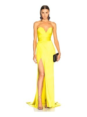 Alexandre Vauthier Shiny Jersey Strapless Gown