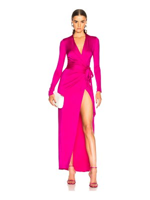 Alexandre Vauthier Shiny Jersey Wrap Gown