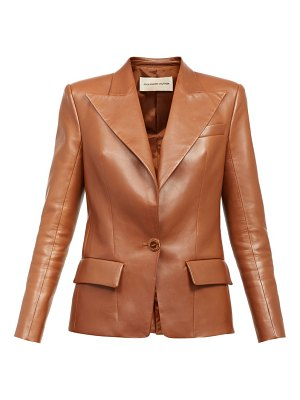 Alexandre Vauthier single-button leather blazer