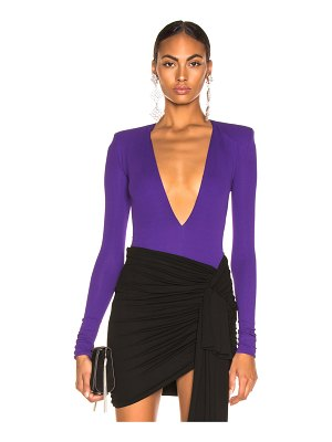 Alexandre Vauthier Stretch Jersey Plunging Bodysuit