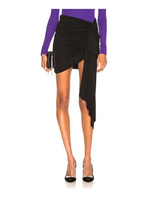 Alexandre Vauthier Stretch Jersey Ruched Mini Skirt