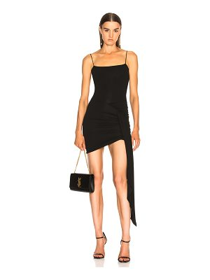 Alexandre Vauthier Stretch Jersey Ruched Tank Dress