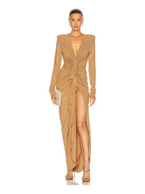Alexandre Vauthier studded gathered maxi dress
