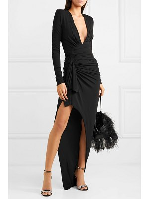 Alexandre Vauthier tie-front ruched stretch-crepe gown