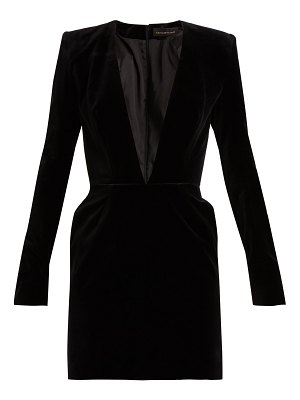 Alexandre Vauthier V-neck velvet mini dress