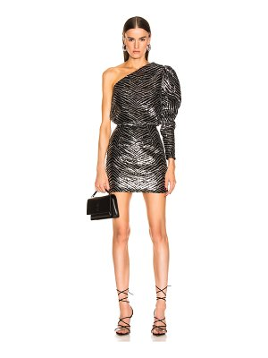 Alexandre Vauthier zebra embroidered mini dress
