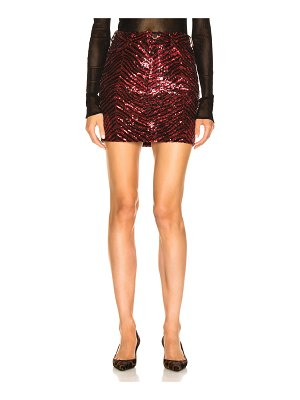 Alexandre Vauthier Zebra Sequin Mini Skirt