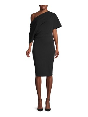 Alexia Admor Asymmetric Draped-Sleeve Sheath Dress