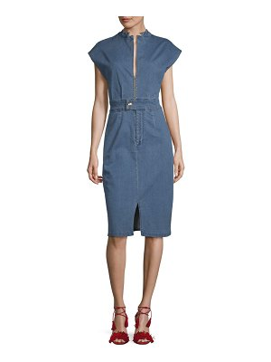 Alexia Admor Cap-Sleeve Denim Dress