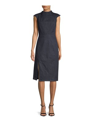 Alexia Admor Cap-Sleeve Denim Sheath Dress