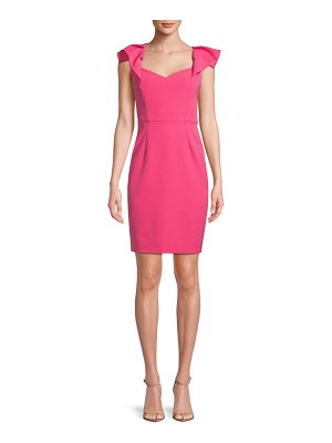 Alexia Admor Classic Flutter-Sleeve Sheath Dress