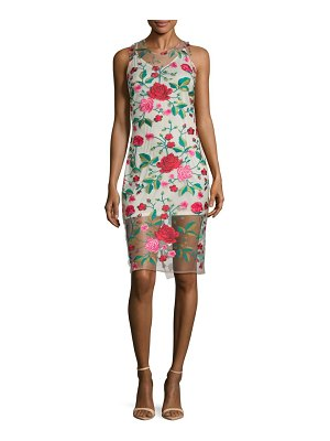Alexia Admor Embroidered Floral Slip Dress
