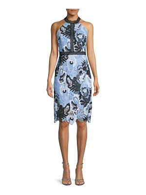 Alexia Admor Embroidered Halter Sheath Dress