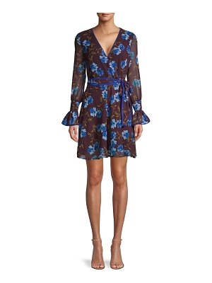 Alexia Admor Floral Self-Tie Mini Dress
