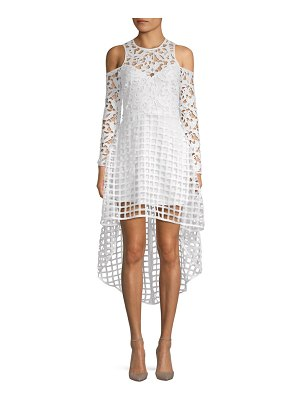 Alexia Admor Lace Cold-Shoulder Hi-Lo Dress