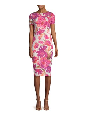 Alexia Admor Printed Scuba Sheath Dress