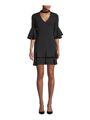Alexia Admor Ruffle Bell-Sleeve Dress