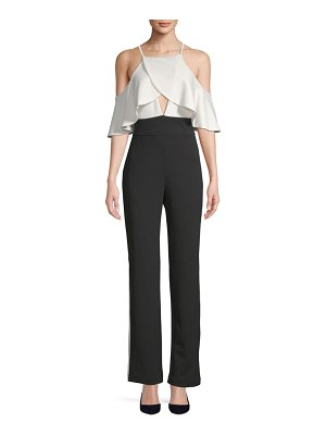Alexia Admor Ruffle Cold-Shoulder Jumpsuit