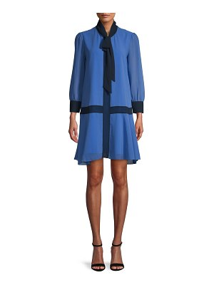 Alexia Admor Self-Tie Neck Shift Dress
