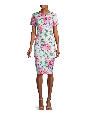 Alexia Admor Short-Sleeve Floral Scuba Dress