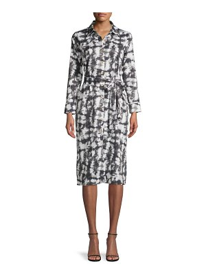 Alexia Admor Tie-Dyed Button-Front Shirtdress