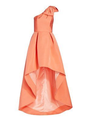 Alexia Maria blair high-low silk gown
