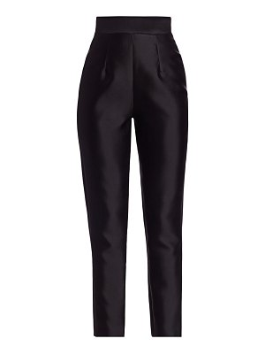 Alexia Maria silk wool cigarette pants