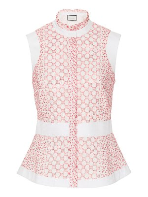 Alexis anais broderie anglaise button-front top size: l