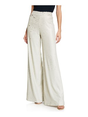 Alexis Arturo Sequined Flare-Leg Pants