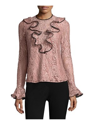 ALEXIS BARBARA Addie Ruffled Lace Top