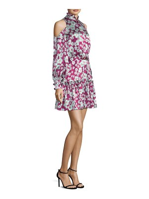 ALEXIS BARBARA Audrina Floral-Print Silk Dress
